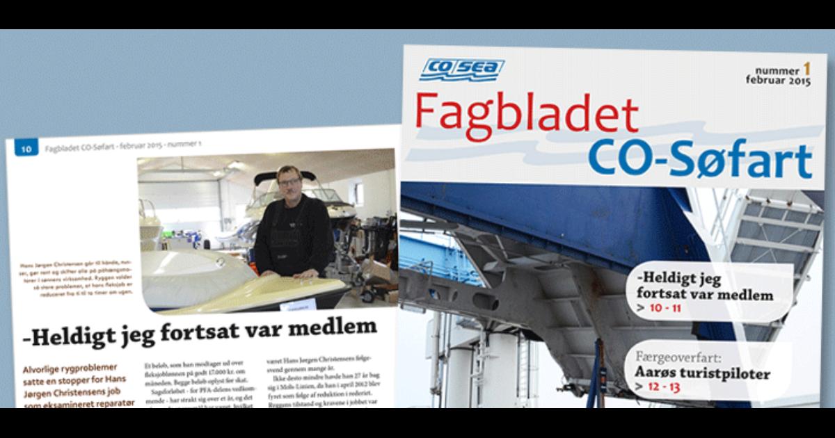 Fagbladet CO-Søfart nr. 1 er udkommet